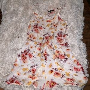 Floral romper bought from PacSun.